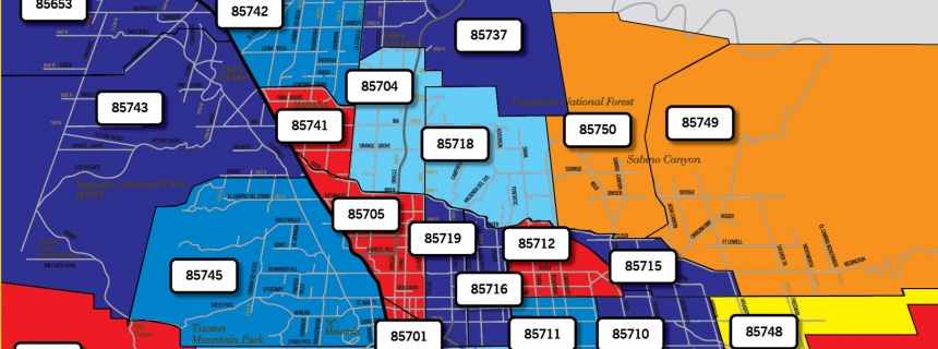 Map Of Tucson Arizona Zip Codes.Are Tucson S Land Prices Going Up Or Down Let S Check The Heat Map